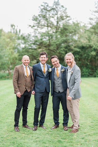 Groomsmen in Moss Bros Suits | Romantic Pastel Wedding at Prested Hall, Essex | Kathryn Hopkins Photography | Sugar Lens Productions
