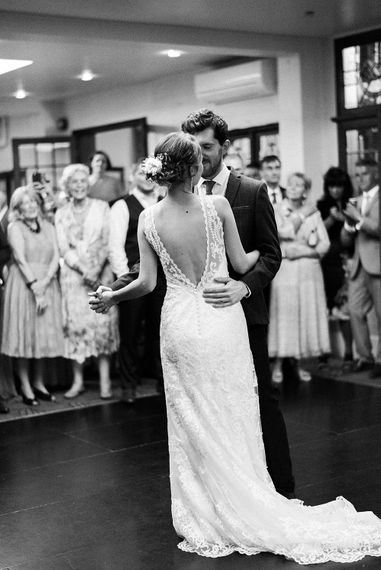 First Dance | Bride in Sottero & Midgley Gown | Groom in Moss Bros Suit | Romantic Pastel Wedding at Prested Hall, Essex | Kathryn Hopkins Photography | Sugar Lens Productions