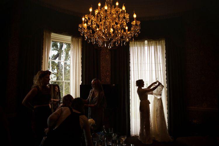 Babington House Wedding With Bride In Bespoke Yolancris Wedding Dress