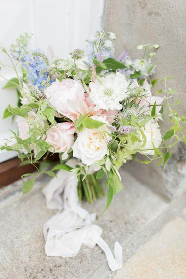 Summer Wedding Bouquet With Love In A Mist