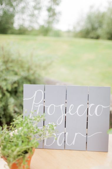 Prosecco Station At Wedding