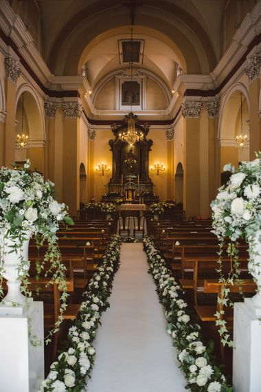 Wedding Ceremony With Floral Aisle