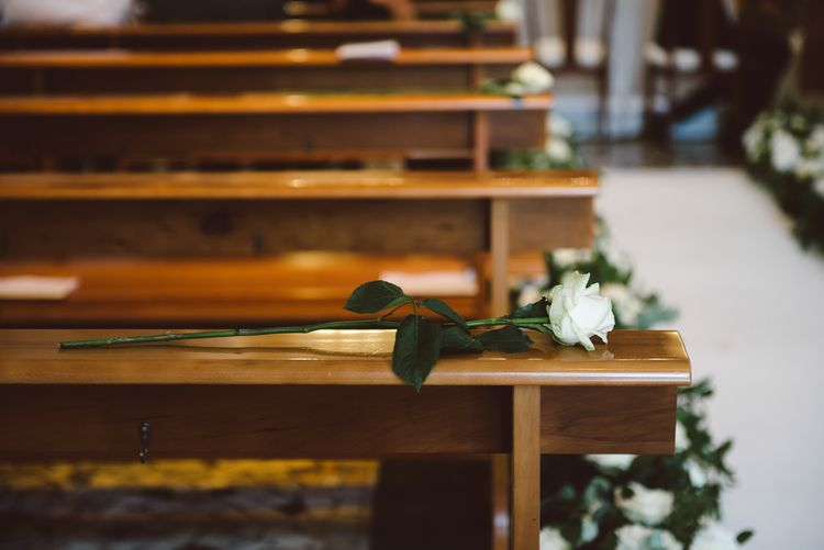 Wedding Ceremony With Flower Aisle