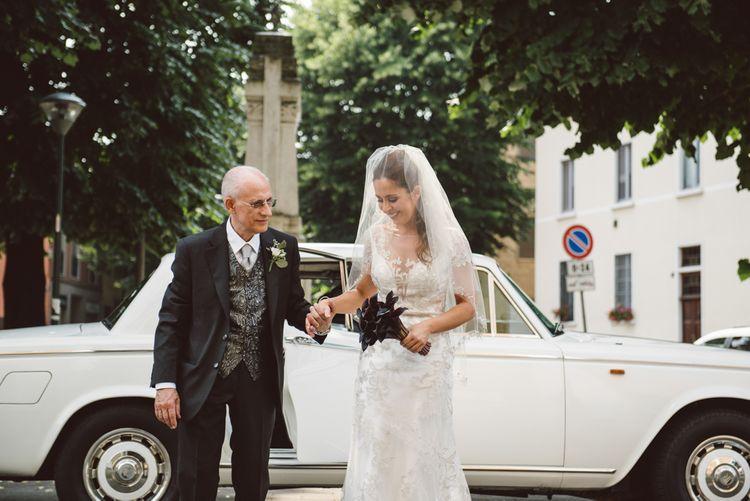Bride Arriving At Church