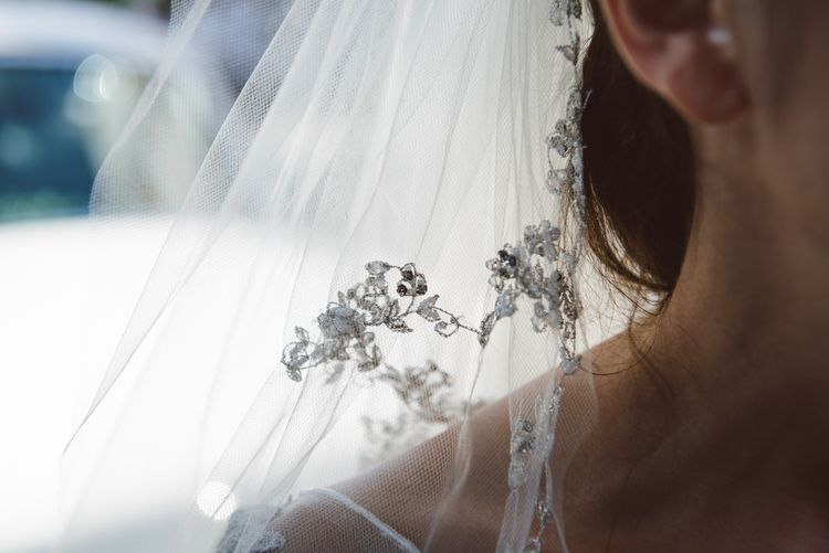 Detail On Brides Veil