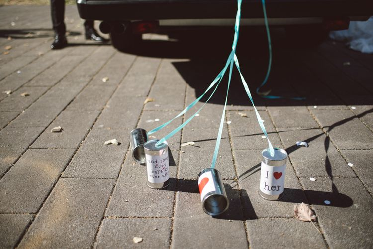 Tin Cans For Wedding Car
