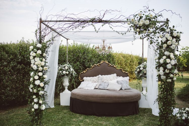 Outdoor Seating Area At Wedding