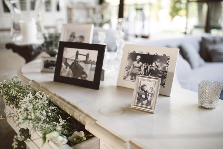 Family Photographs Wedding Decor