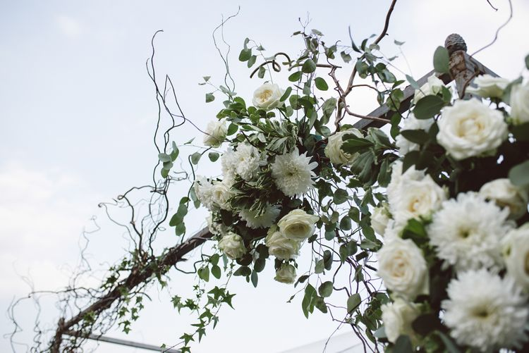 Outdoor Floral Display At Wedding