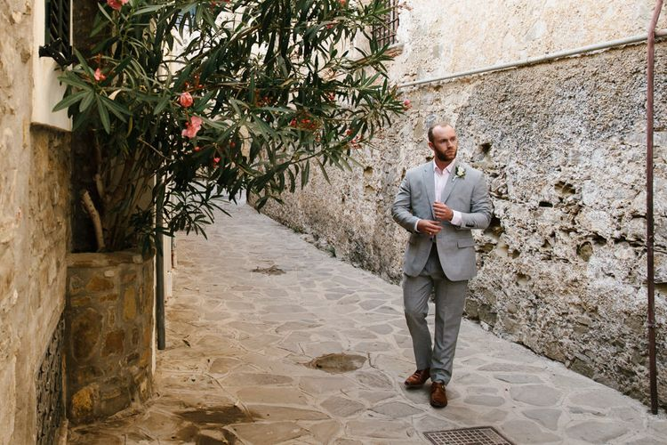 Groom in Grey Reiss Suit | Chris Barber Photography
