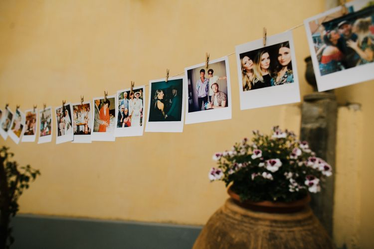 Polaroid Pictures Wedding Decor | Chris Barber Photography