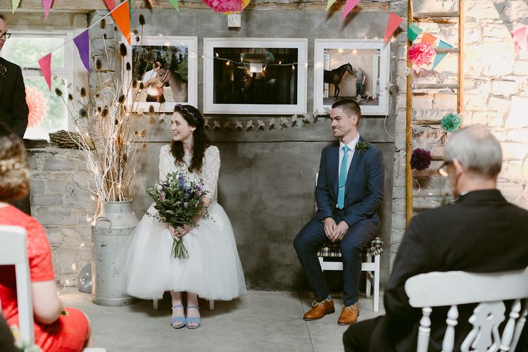 Rustic Barn Ceremony at Durhamstown Castle in Ireland