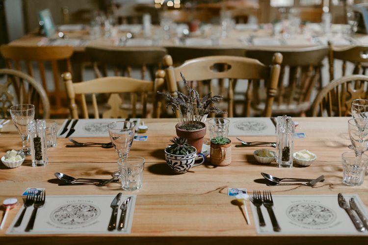 Rustic Table Scape Wedding Decor