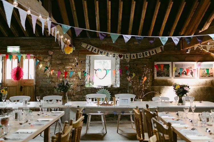 Rustic Barn Reception at Durhamstown Castle in Ireland