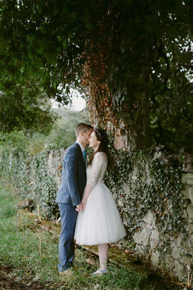 Bride in Lace Maudika Short Tea Length Wedding Dress