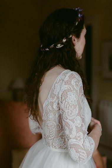 Lace Maudika Short Tea Length Wedding Dress