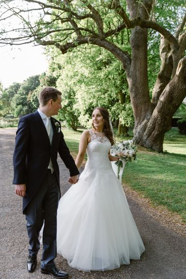Bride in Pronovias Gown | Groom in Moss Bros Suit | Elegant Notley Abbey Wedding | Natalie J Weddings Photography