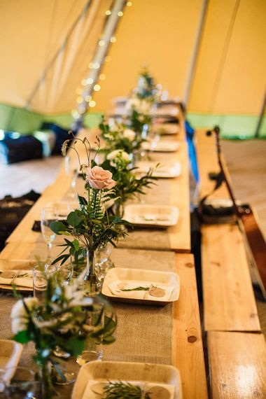 Wooden Trestle Tables | Rustic Wedding Decor