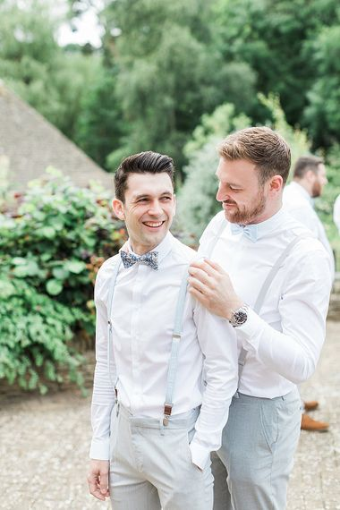 Groomsmen in ASOS Suit | Marble, Copper & Greenery Wedding at Cripps Barn Cotswolds | Summer Lily Studio Photography