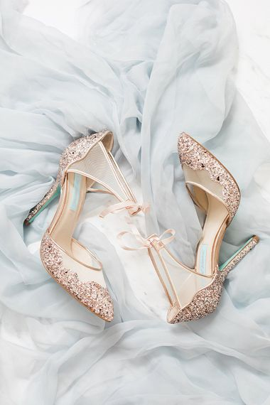 Betsey Johnson Bridal Shoes | Marble, Copper & Greenery Wedding at Cripps Barn Cotswolds | Summer Lily Studio Photography