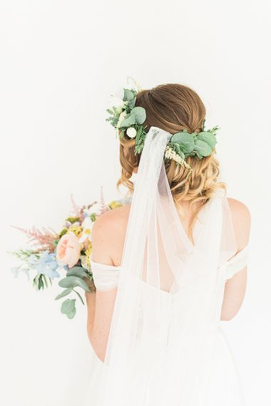 Bridal Veil | Marble, Copper & Greenery Wedding at Cripps Barn Cotswolds | Summer Lily Studio Photography