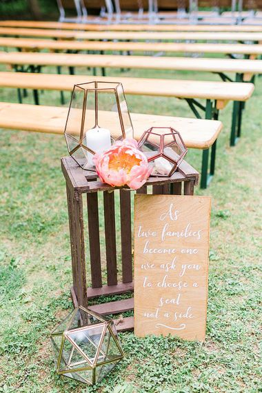Rustic Aisle Wedding Decor | Marble, Copper & Greenery Wedding at Cripps Barn Cotswolds | Summer Lily Studio Photography