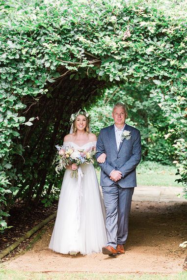 Bridal Entrance in Heaton Wtoo by Watters Gown | Marble, Copper & Greenery Wedding at Cripps Barn Cotswolds | Summer Lily Studio Photography