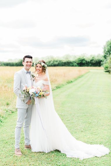 Bride in Heaton Wtoo by Watters Gown | Groom in ASOS Suit | Marble, Copper & Greenery Wedding at Cripps Barn Cotswolds | Summer Lily Studio Photography