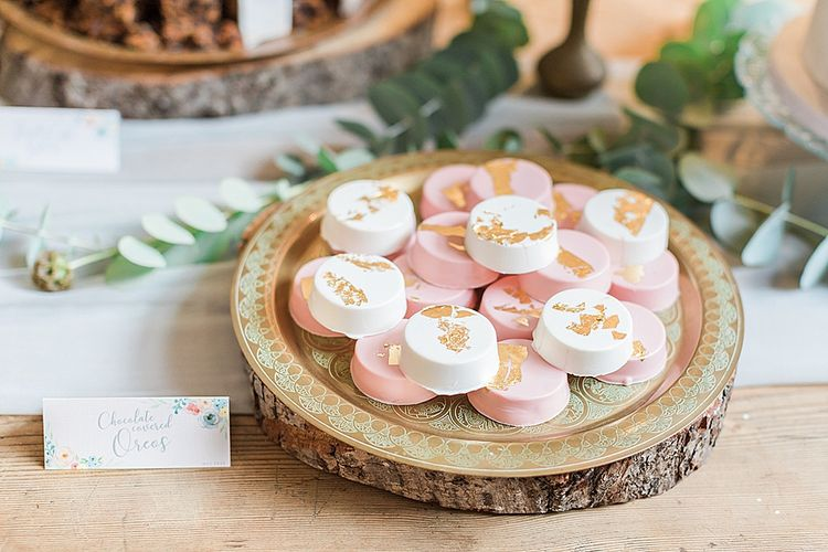 Wedding Treats | Marble, Copper & Greenery Wedding at Cripps Barn Cotswolds | Summer Lily Studio Photography