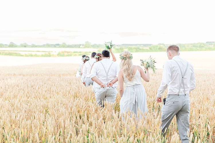 Wedding Party | Marble, Copper & Greenery Wedding at Cripps Barn Cotswolds | Summer Lily Studio Photography