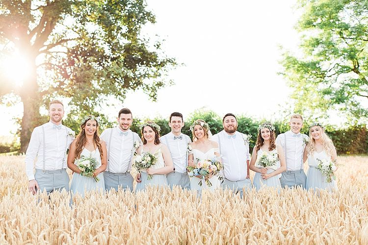 Grey & White Wedding Party Attire | Marble, Copper & Greenery Wedding at Cripps Barn Cotswolds | Summer Lily Studio Photography