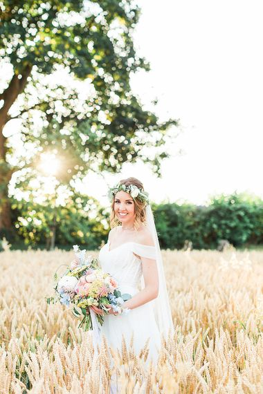 Bride in Heaton Wtoo by Watters Gown | Marble, Copper & Greenery Wedding at Cripps Barn Cotswolds | Summer Lily Studio Photography