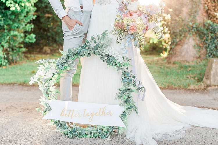 Better Together Greeney Hoop | Bride in Heaton Wtoo by Watters Gown | Groom in ASOS Suit | Marble, Copper & Greenery Wedding at Cripps Barn Cotswolds | Summer Lily Studio Photography