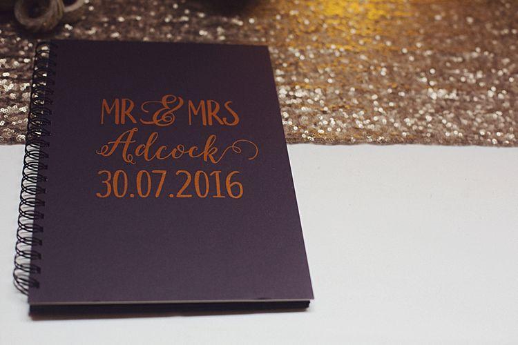 Navy & Gold Wedding Guest Book