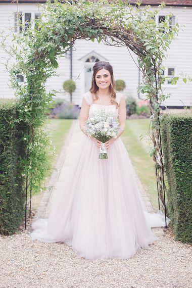 Blush Pink Wedding Dress by Suzanne Neville