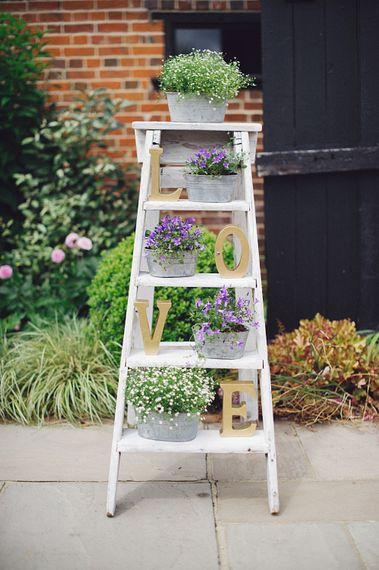 Ladder Display At Wedding