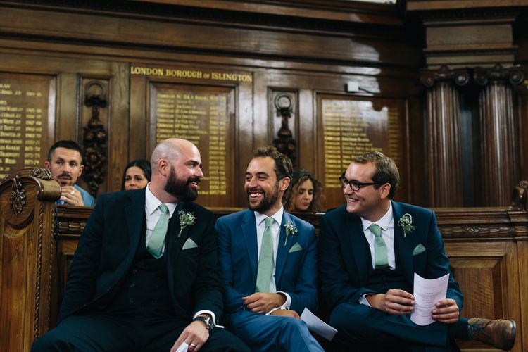 Groomsmen | Groom in Reiss Suit | Stylish London Wedding | Eclection Photography
