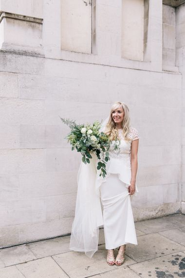 Bride in Alice Temperley Bluebell Gown | Stylish London Wedding | Eclection Photography