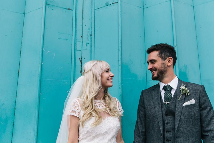 Bride in Alice Temperley Bluebell Gown | Groom in Reiss Suit | Stylish London Wedding | Eclection Photography