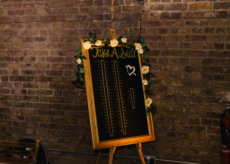 Table Plan | Stylish London Wedding at Kachette | Eclection Photography