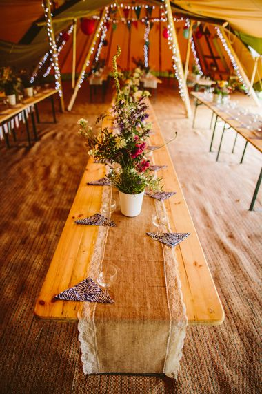Outdoor Tipi Wedding With Rustic Decor
