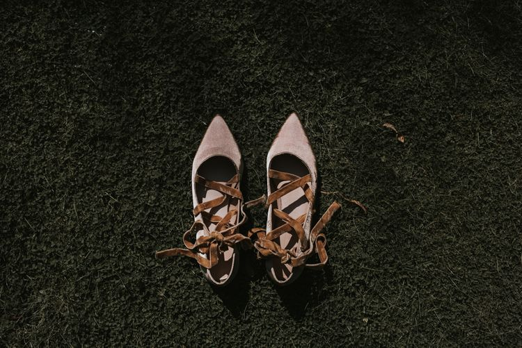 M&S Ballet style wedding shoes | Image by Louise Scott