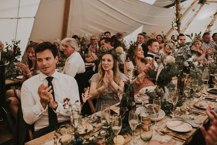 Reception | Makatipi |The Hyde Estate West Sussex | Images by Louise Scott | Boho Bride | Images by Louise Scott