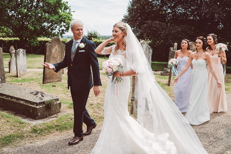 Bride in Lace Dress from Isabella Grace Bridal Boutique | Lemonade Pictures