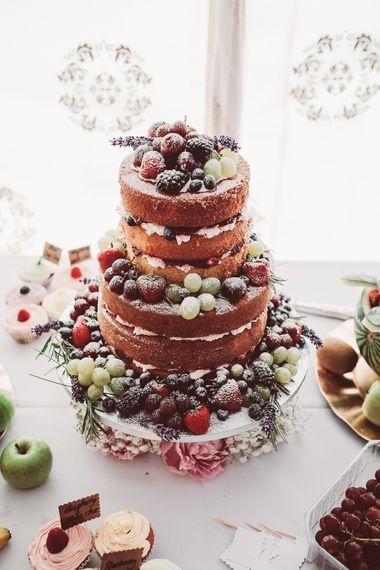 Homemade Naked Wedding Cake | Lemonade Pictures