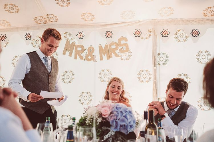 Speeches | Marquee Reception at Wise Wedding Venue in Kent | Lemonade Pictures