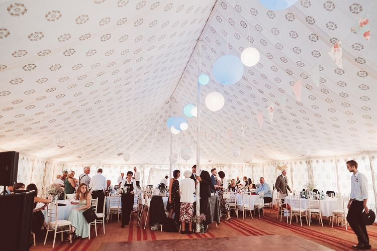 Marquee Reception at Wise Wedding Venue in Kent | Lemonade Pictures