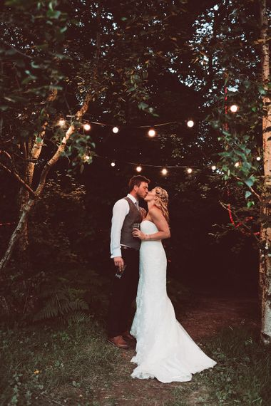 Bride in Lace Dress from Isabella Grace Bridal Boutique | Groom in Victor Valentine Suit | Lemonade Pictures