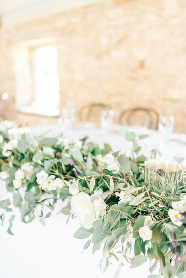 Floral Runner For Top Table