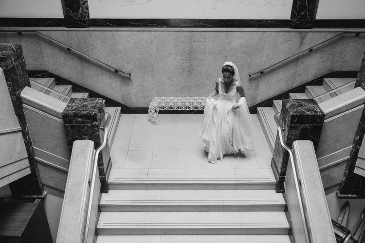 Bride in Jenny Packham Wedding Dress | Natalie J Weddings